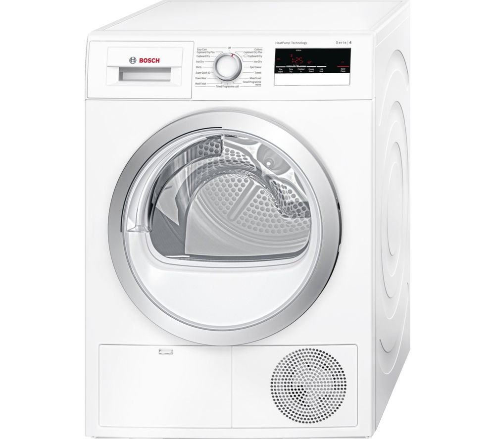 buy bosch serie 4 wth85200gb heat pump tumble dryer. Black Bedroom Furniture Sets. Home Design Ideas