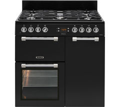 LEISURE Cookmaster CK90F232K 90 cm Dual Fuel Range Cooker - Black & Chrome