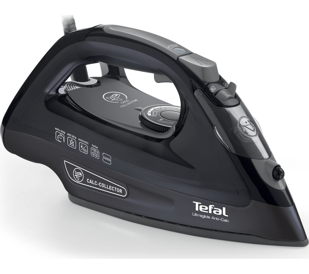 TEFAL  Ultraglide AnitCalc FV2660 Steam Iron  Black Black