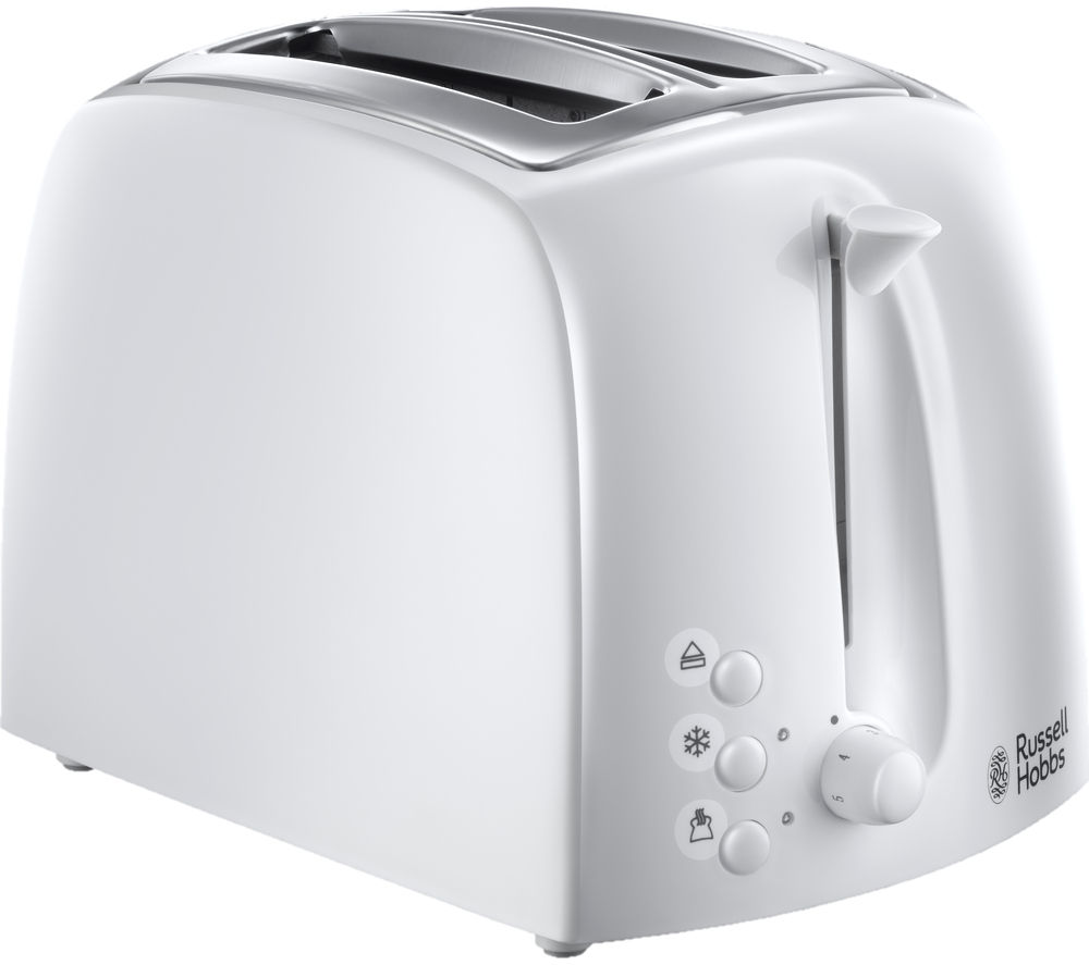 RUSSELL HOBBS  Textures 21640 2Slice Toaster  White White