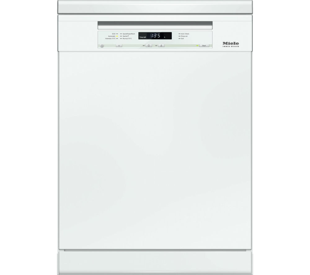 buy miele g6620sc full size dishwasher white free delivery currys. Black Bedroom Furniture Sets. Home Design Ideas
