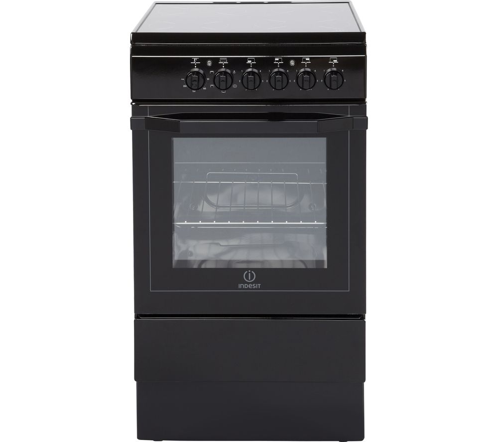 INDESIT  I5VSH K UK 50 cm Electric Ceramic Cooker  Black Black