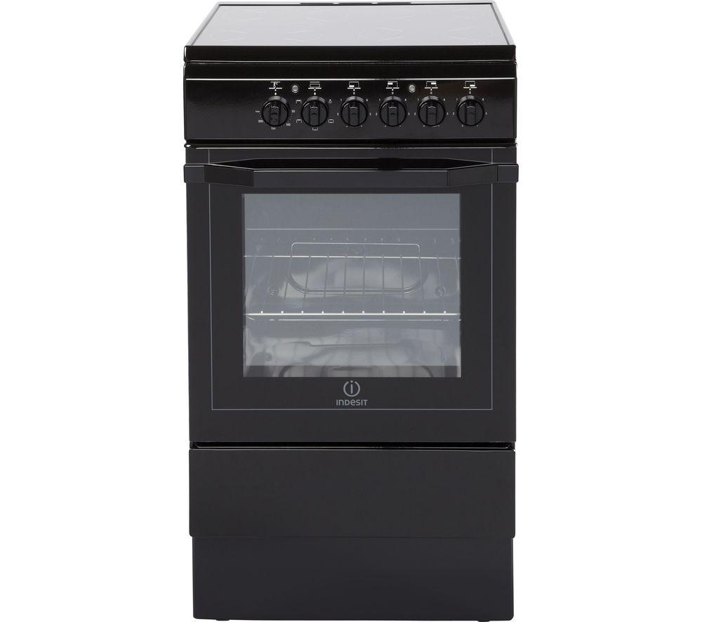 INDESIT I5VSH K UK 50 cm Electric Ceramic Cooker - Black