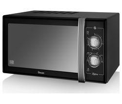 SWAN Retro SM22070BN Solo Microwave - Black
