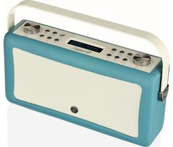 VQ Hepburn Mk II Portable DAB+/FM Bluetooth Clock Radio - Teal