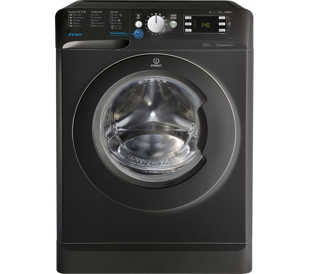 INDESIT Innex BWE 91484X K Washing Machine  Black Black