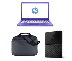 "HP Stream 14-ax053sa 14"" Laptop - Purple"