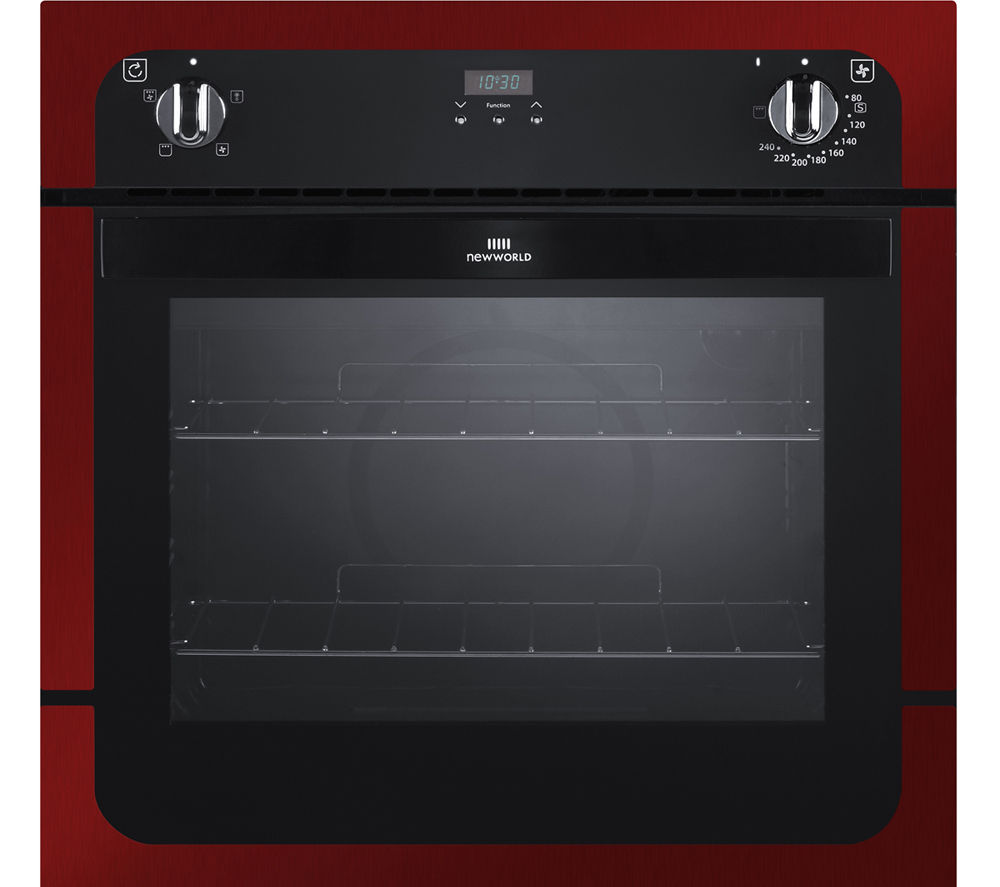 New World Kitchen Appliances Buy New World Nw601fp Electric Oven Metallic Red Free Delivery