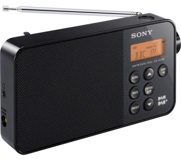 buy sony xdrs40dbpb portable dab radio black free delivery currys. Black Bedroom Furniture Sets. Home Design Ideas