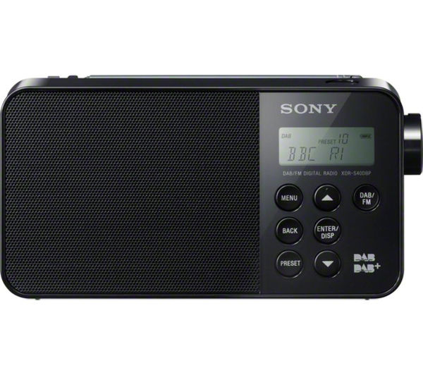 buy sony xdrs40dbpb portable dab radio black free. Black Bedroom Furniture Sets. Home Design Ideas