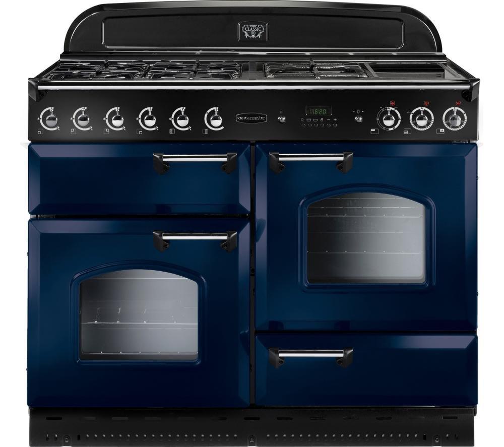 buy rangemaster classic 110 dual fuel range cooker blue. Black Bedroom Furniture Sets. Home Design Ideas