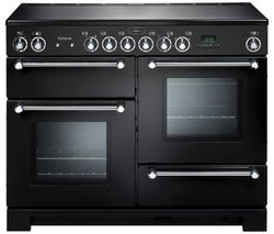 RANGEMASTER Kitchener 110 Electric Ceramic Range Cooker - Black & Chrome