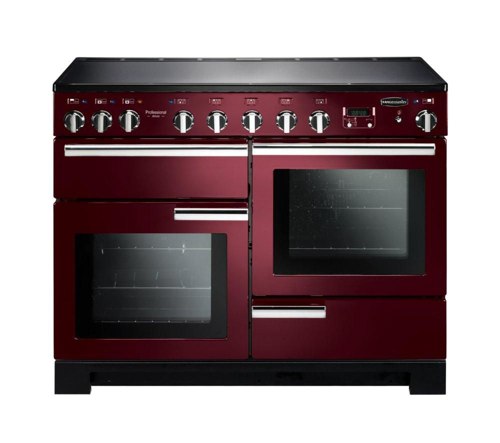 RANGEMASTER Professional Deluxe 110 Induction Range Cooker - Cranberry & Chrome