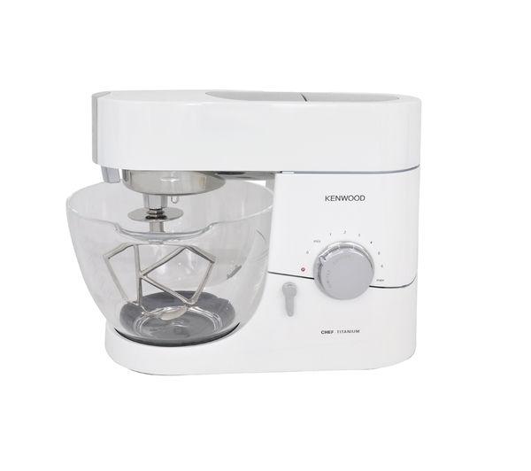 Kenwood KMC015 Titanium Chef Kitchen Machine - White, Titanium
