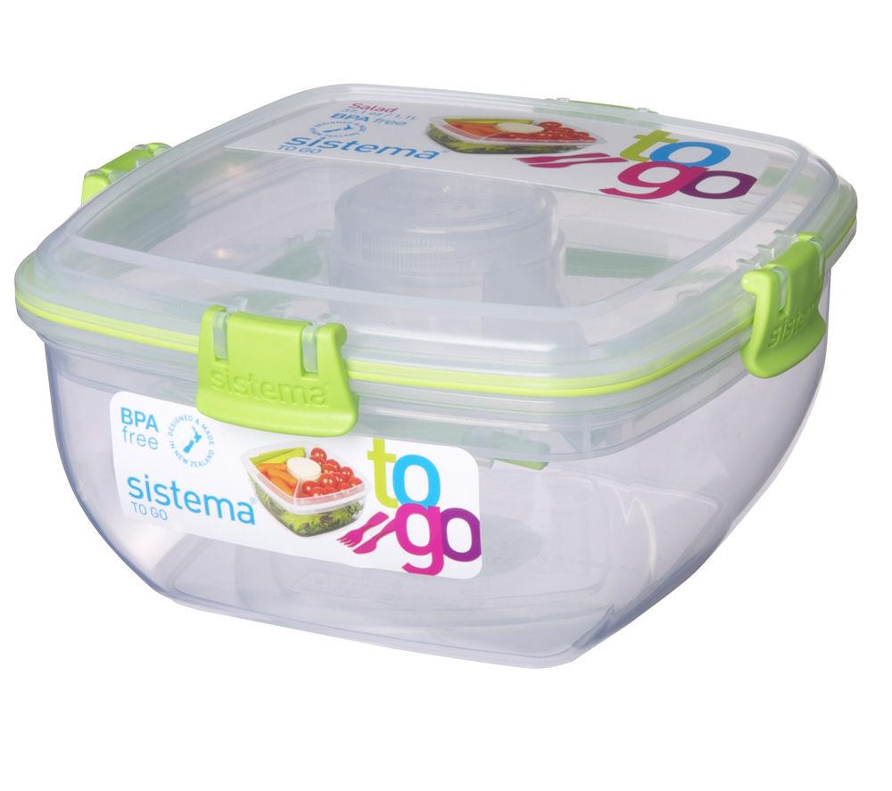 SISTEMA Square 1.1-litre Salad to Go Box