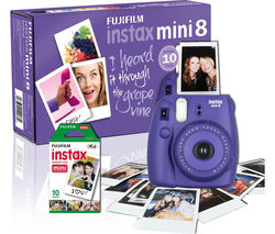FUJIFILM Instax Mini 8 Instant Camera & 10 Shot Bundle - Grape
