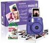 INSTAX Mini 8 Instant Camera & 10 Shot Bundle - Grape