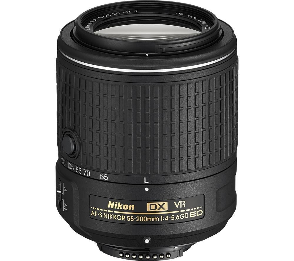 NIKON AF-S NIKKOR 55-200 mm f/4-5.6 SWM ED VR II Zoom Lens