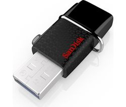 SANDISK Ultra On-The-Go Dual Drive USB 3.0 Memory Stick - 64 GB, Black