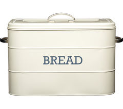 KITCHEN CRAFT Living Nostalgia Vintage Bread Bin - Cream