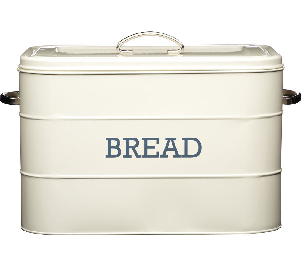 KITCHEN CRAFT Living Nostalgia Vintage Bread Bin - Cream