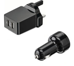 LOGIK L34AKIT16 Universal USB Battery Car & Wall Charger Kit