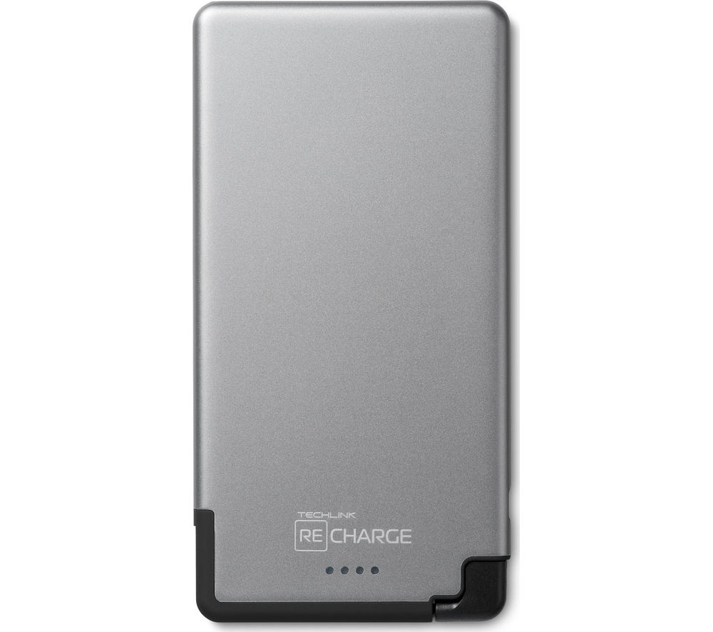 TECHLINK ReCharge 5000 Ultrathin Portable Power Bank - Grey & Black