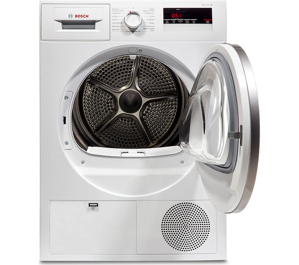 Bosch Dryer buy bosch serie 4 wtn85280gb condenser tumble dryer - white | free
