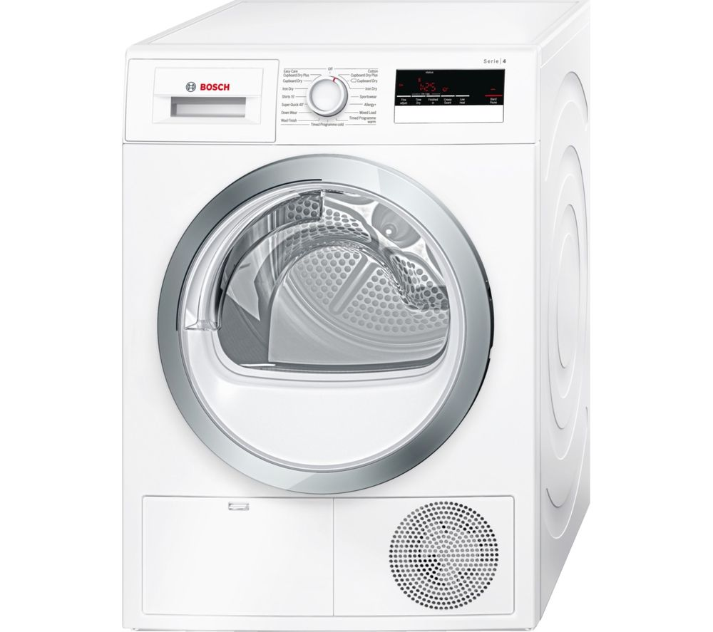 buy bosch serie 4 wtn85280gb condenser tumble dryer. Black Bedroom Furniture Sets. Home Design Ideas