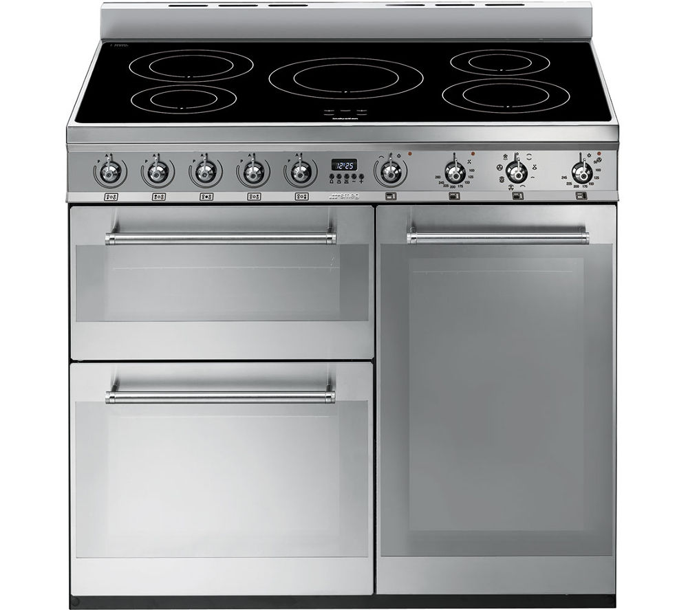 SMEG Symphony SY93I 90 cm Electric Induction Range Cooker - Stainless Steel