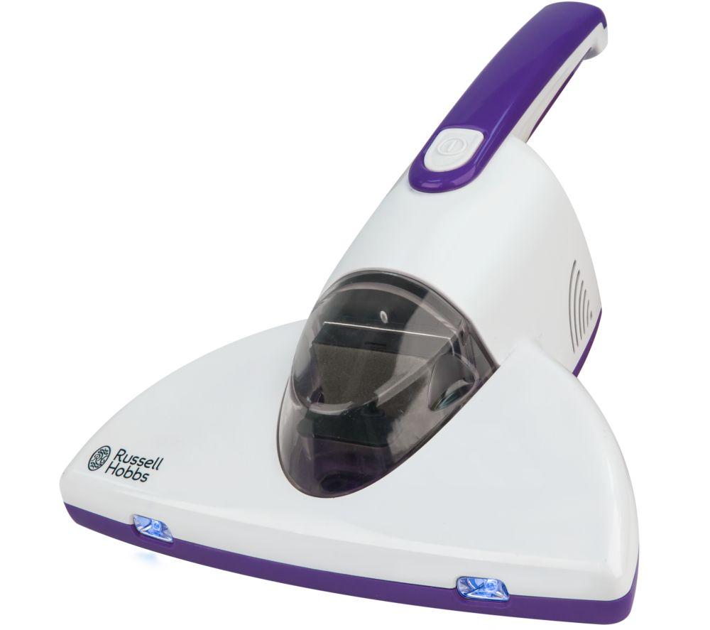 RUSSELL HOBBS RHBV1001 UV Antibacterial Bed Handheld Vacuum Cleaner  White & Purple White