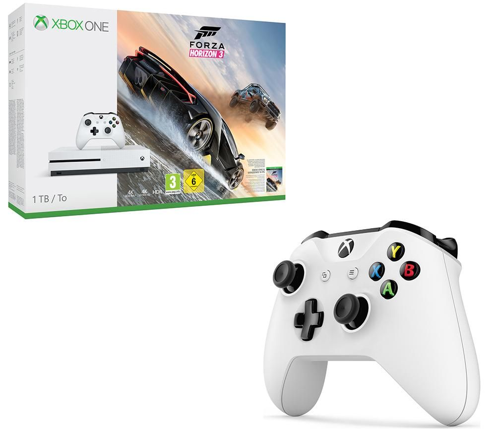 buy microsoft xbox one s forza horizon 3 wireless controller bundle free delivery currys. Black Bedroom Furniture Sets. Home Design Ideas