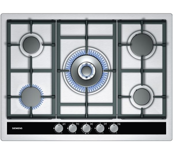 SIEMENS iQ500 EC745RC90E Gas Hob - Stainless Steel