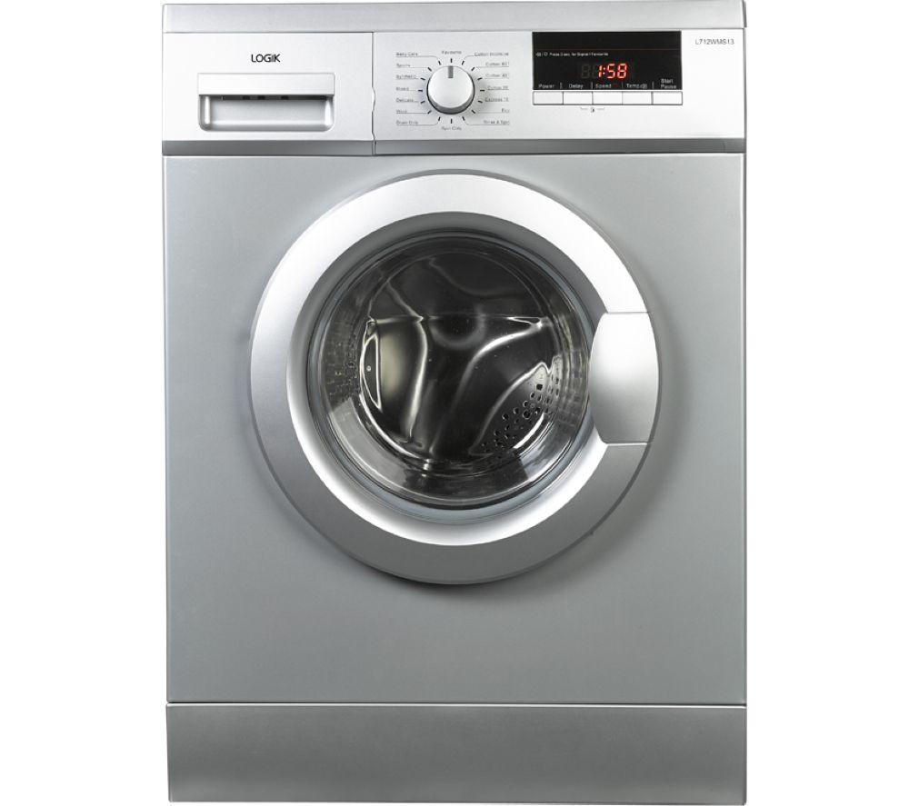 LOGIK L712WMS13 Washing Machine - Silver