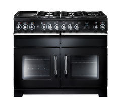 RANGEMASTER Excel 110 Dual Fuel Range Cooker - Black & Chrome