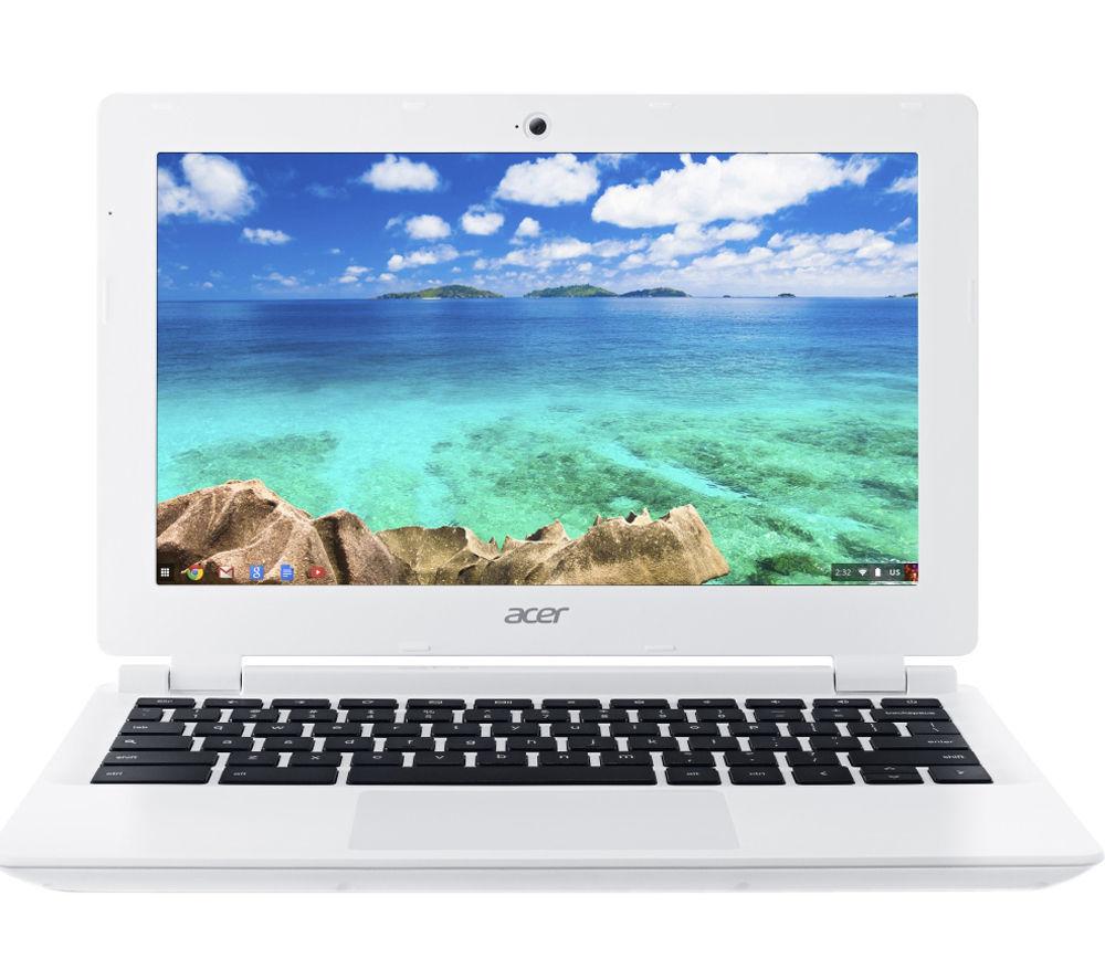 """ACER  CB3-111 11.6"""" Chromebook - White +  Chromecast"""