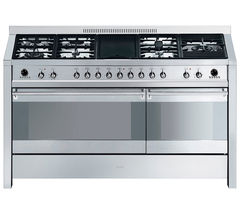 SMEG Opera 150 Dual Fuel Range Cooker - Stainless Steel