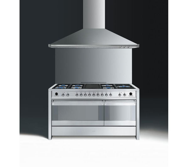 buy smeg opera 150 dual fuel range cooker stainless steel free delivery currys