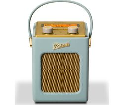 ROBERTS Revival Mini Portable DAB+ Radio - Duck Egg & Gold