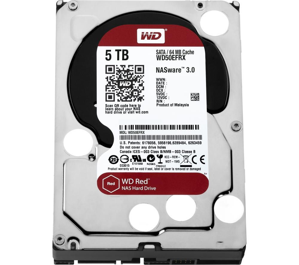 "WD Red 3.5"" Internal Network Hard Drive - 5 TB"