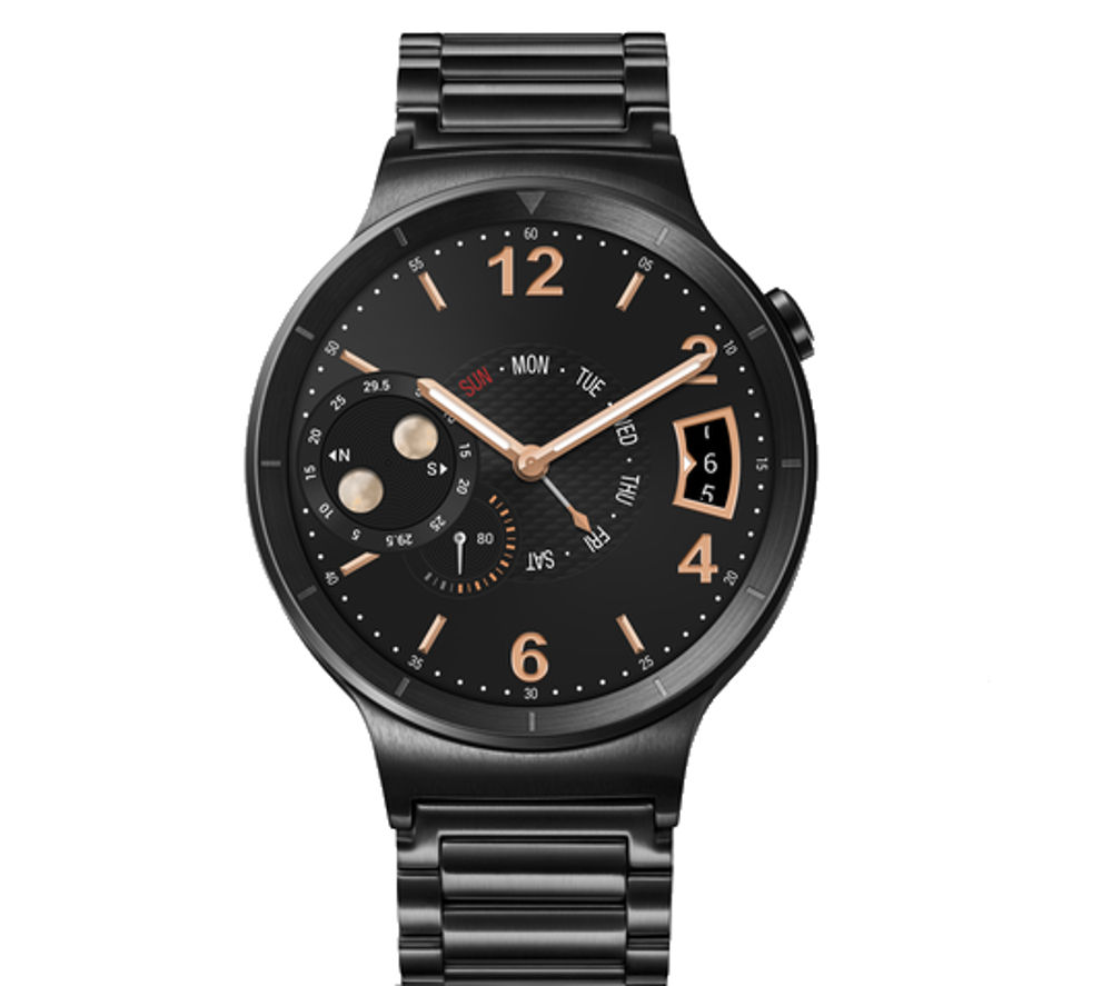 HUAWEI Active Smartwatch - Black, Steel Strap