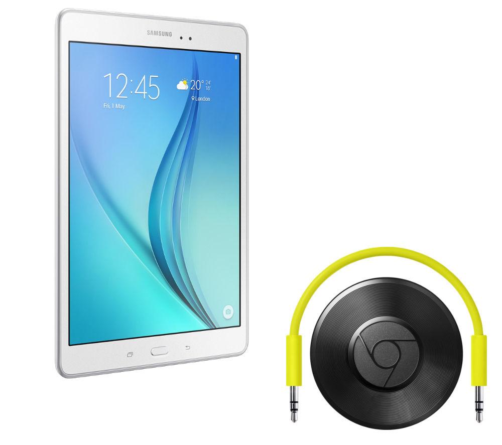 Samsung Galaxy Tab A 9.7 Tablet (16 GB White) & Chromecast Audio Bundle White