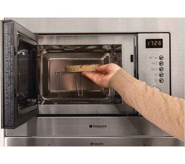 Hotpoint Mwh 122 1 X Built In Microwave With Grill Stainless Steel