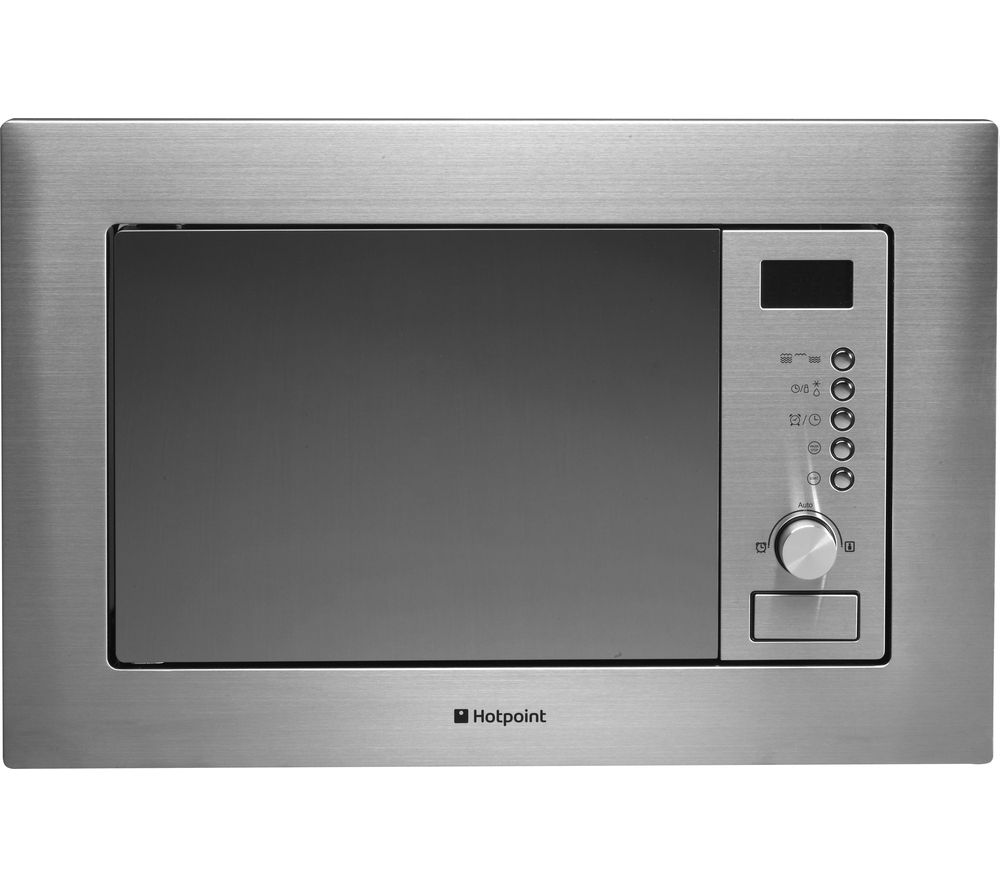HOTPOINT  MWH1221X Builtin Microwave with Grill  Stainless Steel Stainless Steel