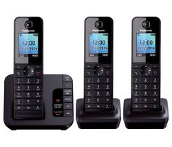 PANASONIC KX-TG8183EB Cordless Phone with Answering Machine - Triple Handsets
