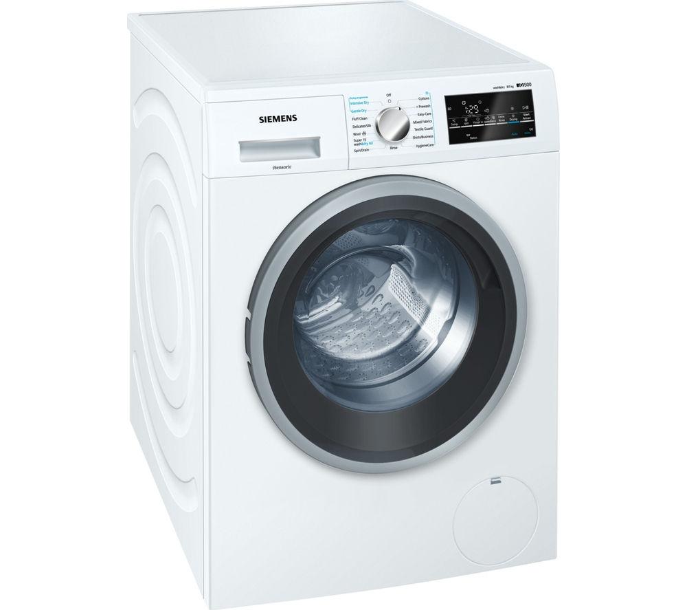 Image of SIEMENS WD15G421GB Washer Dryer - White, White