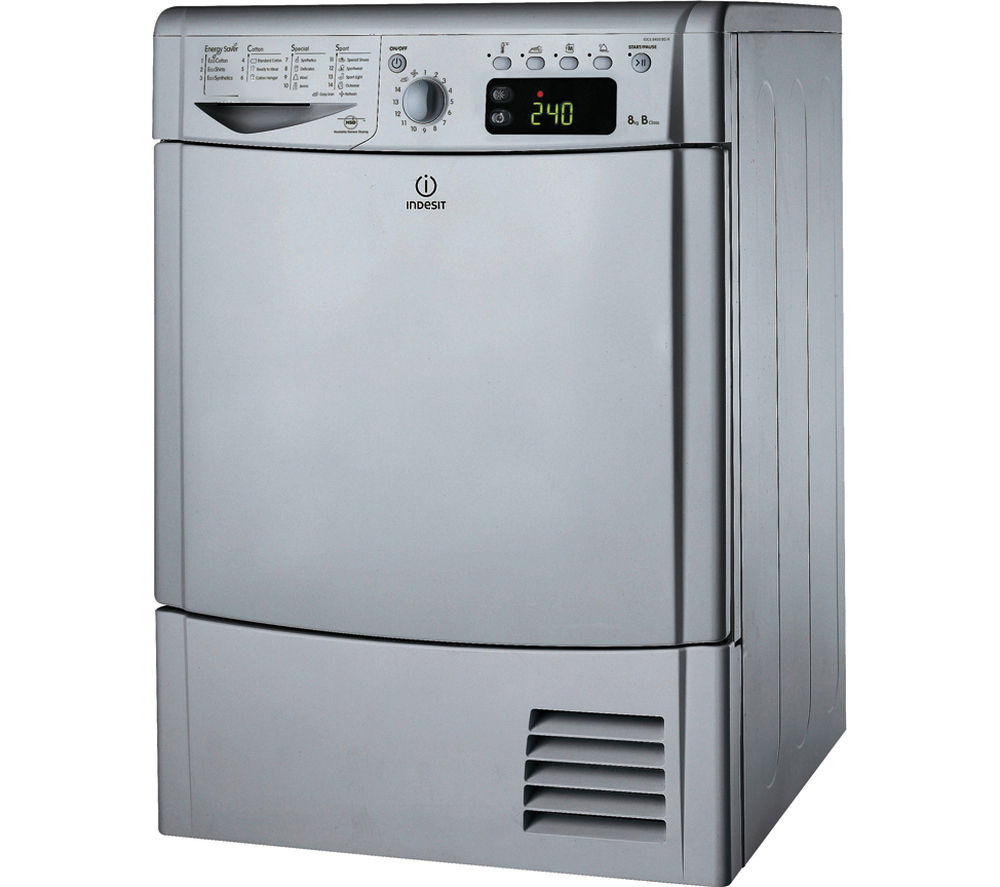 INDESIT IDCE8450BS Condensor Tumble Dryer - Silver