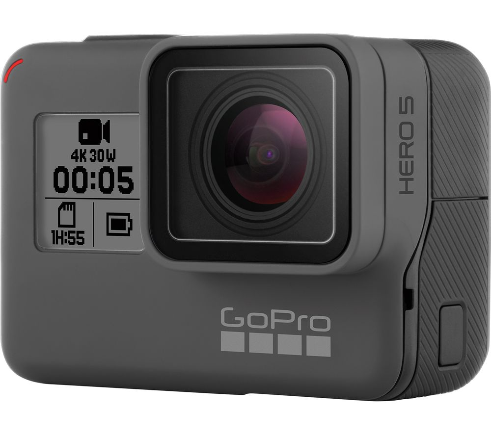 GOPRO HERO5 4K Ultra HD Action Camcorder - Black + GP2036 3-Way Mount