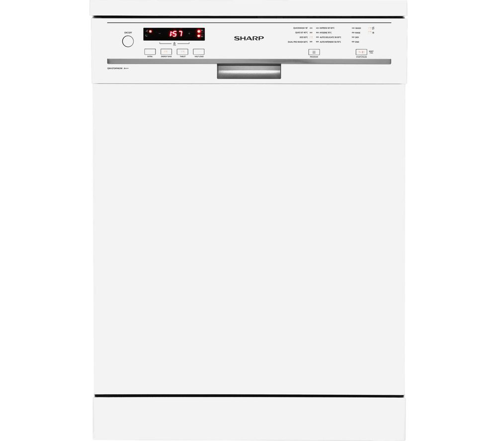 SHARP QW-GT24F463W Full-size Dishwasher - White