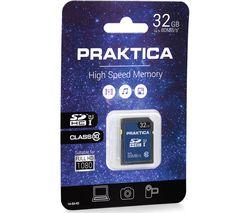 PRAKTICA SDHC Class 10 Memory Card - 32 GB